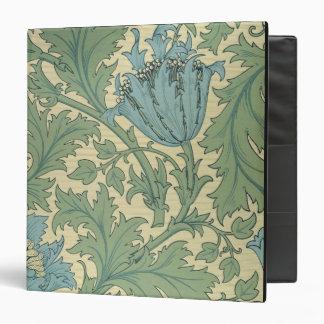 "Diseño de la ""anémona"" (materia textil) carpeta 1 1/2"""