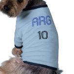 ¡Diseño de la Argentina 10! Camisetas De Perro