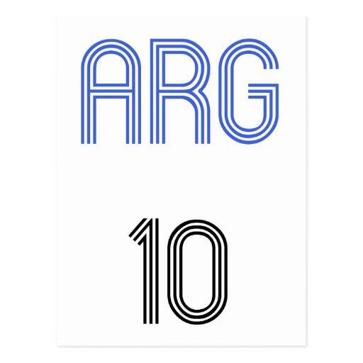 ¡Diseño de la Argentina 10! Tarjetas Postales