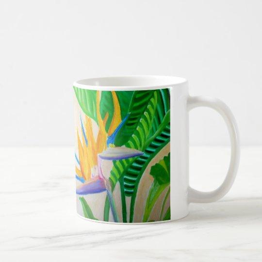 Diseño de la ave del paraíso taza de café