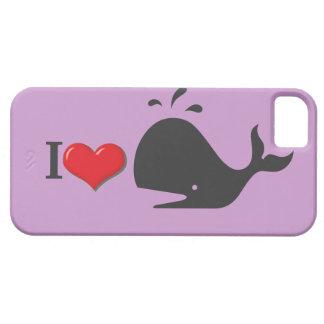 Diseño de la ballena iPhone 5 carcasa