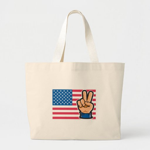 Diseño de la bandera americana de la paz bolsa de mano
