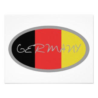 ¡Diseño de la bandera de Alemania Invitación Personalizada