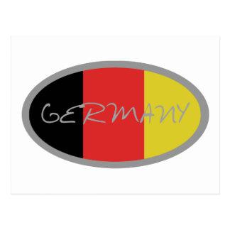 ¡Diseño de la bandera de Alemania Tarjetas Postales