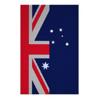 """Diseño de la bandera de Australia en estilo del Folleto 5.5"""" X 8.5"""""""