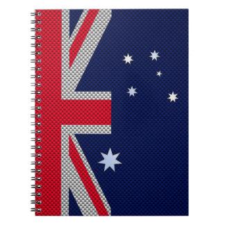 Diseño de la bandera de Australia en estilo del Libros De Apuntes