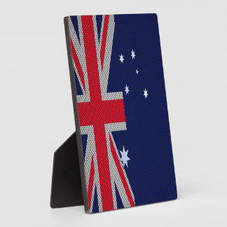 Diseño de la bandera de Australia en estilo del Placas De Madera