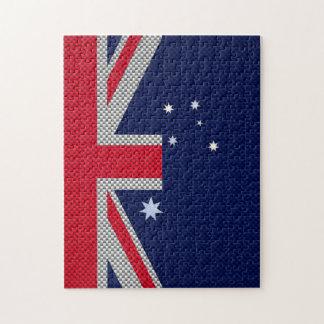 Diseño de la bandera de Australia en estilo del Rompecabeza