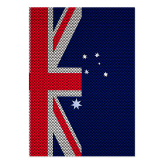 Diseño de la bandera de Australia en estilo del Plantillas De Tarjetas Personales