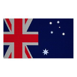 Diseño de la bandera de Australia en estilo del Tarjetas De Visita