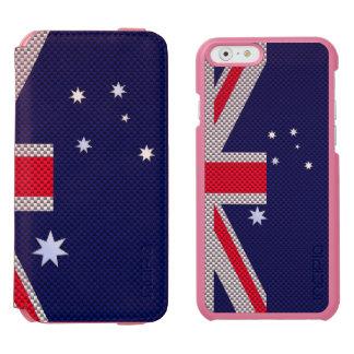 Diseño de la bandera de Australia en estilos del Funda Billetera Para iPhone 6 Watson
