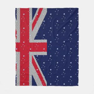 Diseño de la bandera de Australia en estilos del Manta De Forro Polar