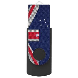 Diseño de la bandera de Australia en estilos del Memoria USB