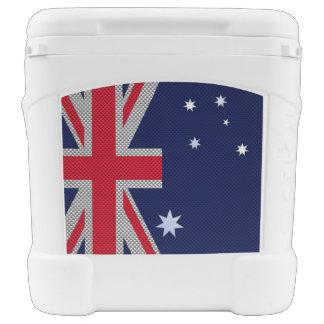 Diseño de la bandera de Australia en la decoración Hielera Con Ruedas