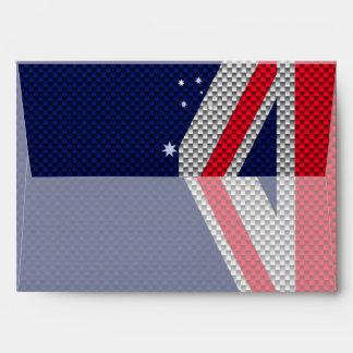 Diseño de la bandera de Australia en la decoración Sobre