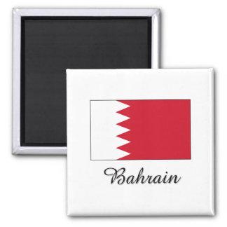 Diseño de la bandera de Bahrein Imán Cuadrado