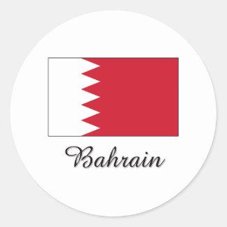 Diseño de la bandera de Bahrein Pegatinas Redondas