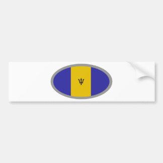¡Diseño de la bandera de Barbados! Etiqueta De Parachoque