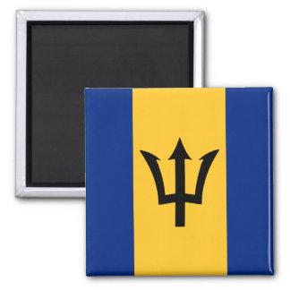 Diseño de la bandera de Barbados Imán Cuadrado