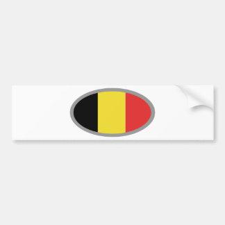 ¡Diseño de la bandera de Bélgica! Pegatina De Parachoque