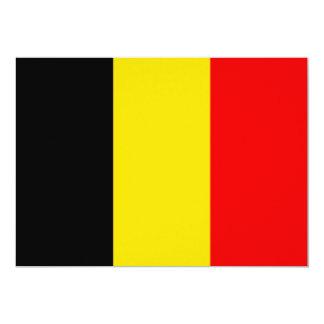 """Diseño de la bandera de Bélgica Invitación 5"""" X 7"""""""