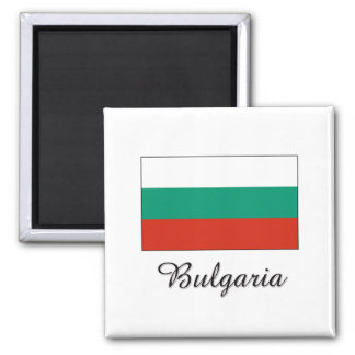 Diseño de la bandera de Bulgaria Imán Cuadrado