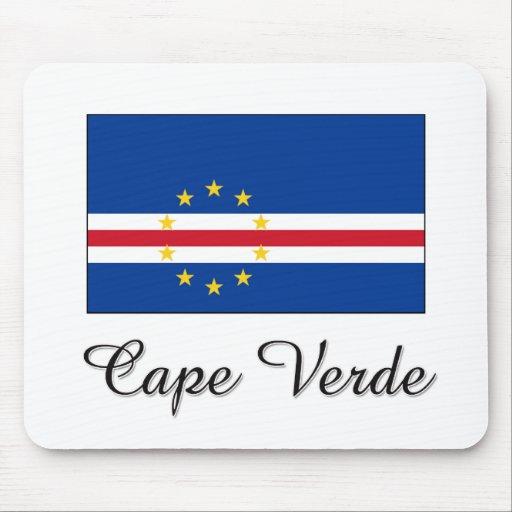 Diseño de la bandera de Cabo Verde Tapete De Ratón