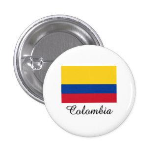 Diseño de la bandera de Colombia Pin Redondo De 1 Pulgada