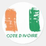 Diseño de la bandera de Cote d'Ivore Pegatina Redonda