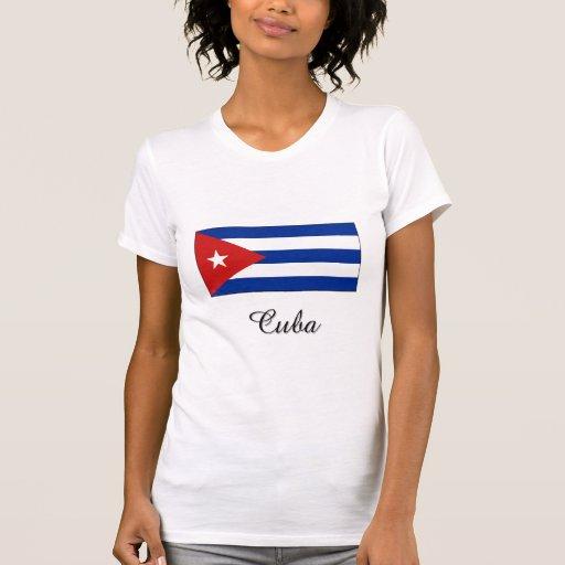 Diseño de la bandera de Cuba Camisetas