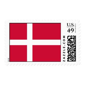 Diseño de la bandera de Dinamarca Estampillas