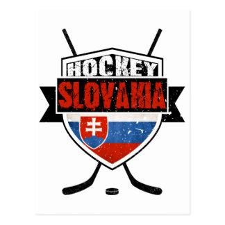 Diseño de la bandera de Eslovaquia del hockey Postales