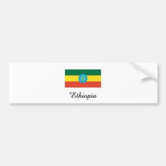 Diseño de la bandera de Etiopía Pegatina Para Auto
