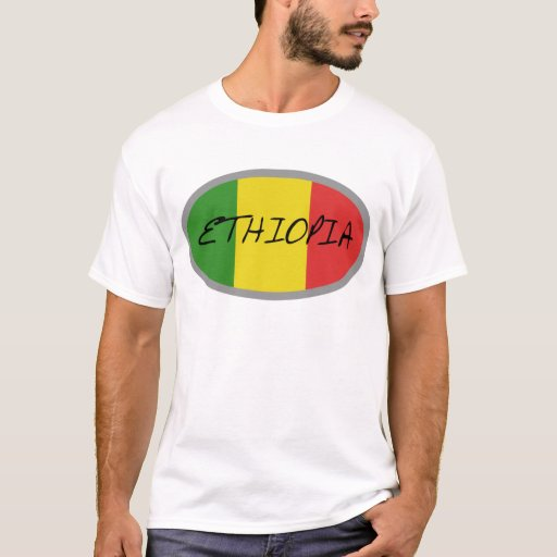 ¡Diseño de la bandera de Etiopía! Playera
