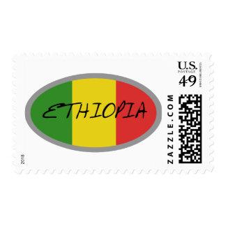 ¡Diseño de la bandera de Etiopía! Sellos
