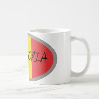 ¡Diseño de la bandera de Etiopía! Taza