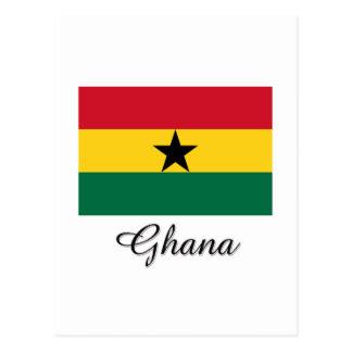 Diseño de la bandera de Ghana Tarjetas Postales