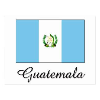 Diseño de la bandera de Guatemala Tarjeta Postal