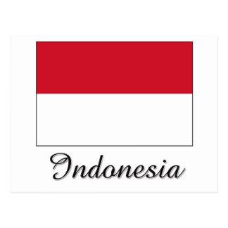 Diseño de la bandera de Indonesia Tarjeta Postal