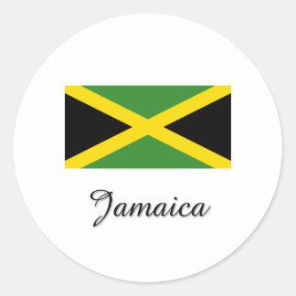 Diseño de la bandera de Jamaica Pegatina Redonda