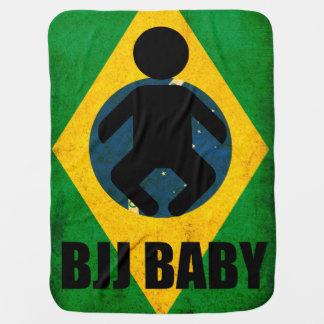 Diseño de la bandera de Jiu Jitsu del brasilen@o d Mantita Para Bebé