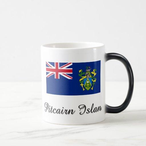 Diseño de la bandera de la isla de Pitcairn Taza Mágica