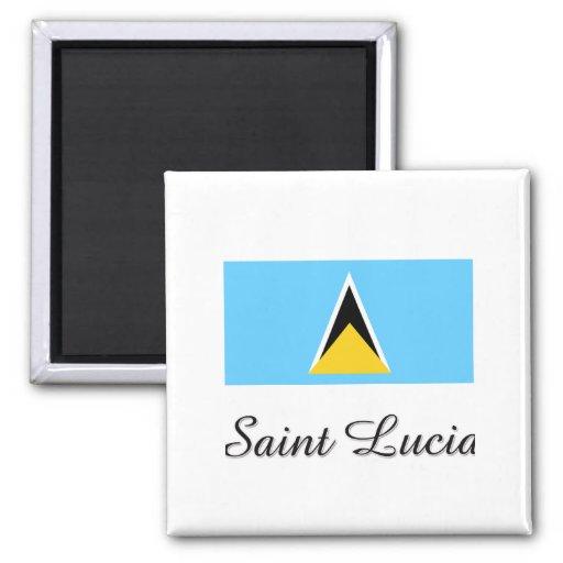 Diseño de la bandera de la Santa Lucía Iman De Frigorífico