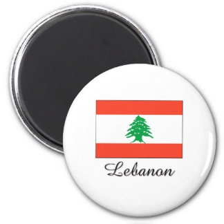 Diseño de la bandera de Líbano Imán De Frigorifico