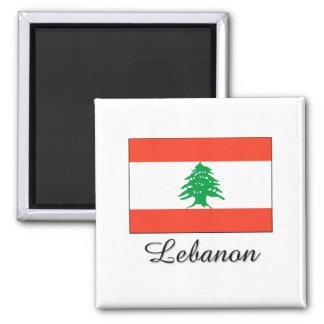Diseño de la bandera de Líbano Imán Para Frigorifico