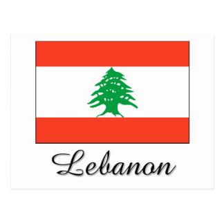 Diseño de la bandera de Líbano Postal
