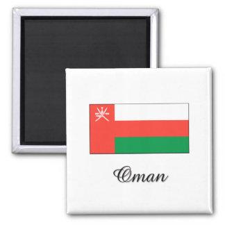 Diseño de la bandera de Omán Imán Cuadrado