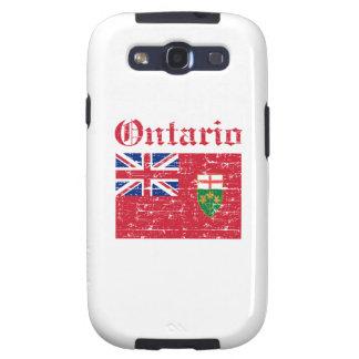 Diseño de la bandera de Ontario Canadá Samsung Galaxy S3 Carcasas