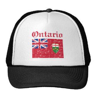 Diseño de la bandera de Ontario Canadá Gorras