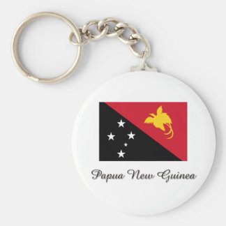 Diseño de la bandera de Papúa Nueva Guinea Llavero Redondo Tipo Pin